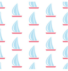 Seamless pattern with sail boats on subtle vector