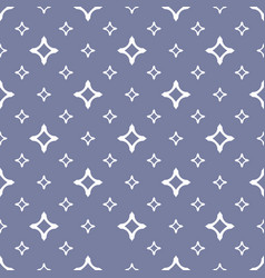 seamless pattern with white stars diamond shapes vector image vector image