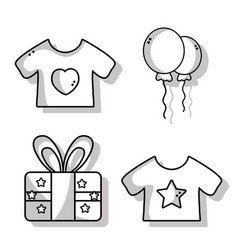 Set cute babies tools icons vector