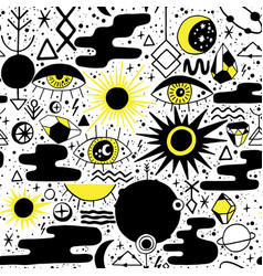 Solar eclipse pattern vector