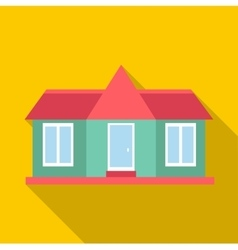 Suburban american house icon flat style vector