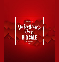 Valentine s day love and feelings sale background vector