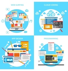 Web Development Concept Icons Set vector image