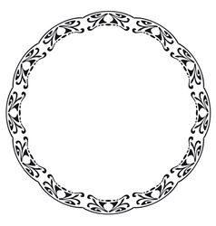 Rounded frame in the style of art nouveau vector