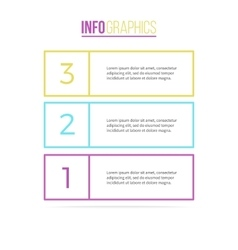 Business infographics List with 3 parts vector image