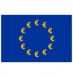 Euro currency flag vector