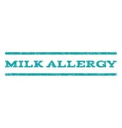 Milk allergy watermark stamp vector