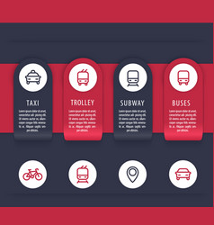 city transport infographics elements vector image