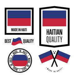 Haiti quality label set for goods vector