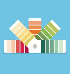 Color swatches book color palette guide color vector