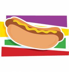 hot dog graphic vector image