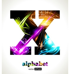 Design abstract letter x vector