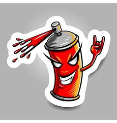 spray paint red vector image