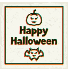 Happy halloween greeting card with effect overlay vector image