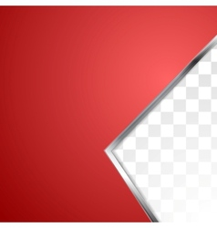 Abstract red background with metal stripe vector