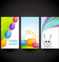 Colorful easter set of card vector