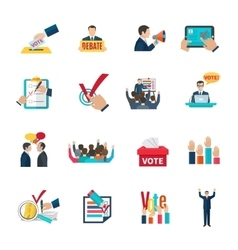Elections icons set vector
