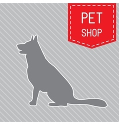 Silhouette of dog on the poster for veterinary vector