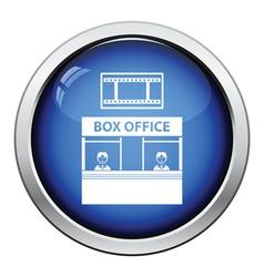 Box office icon vector