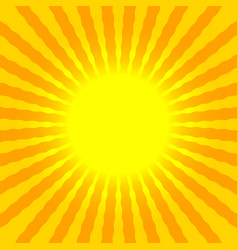 abstract sun rays wavy yellow and orange vector image vector image