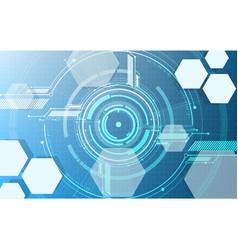 Abstract technological digital hexagonal display vector
