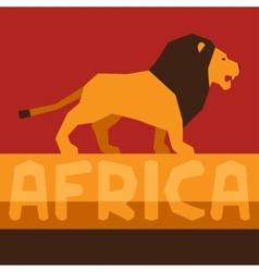 African ethnic background with of lion vector