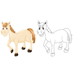 animal outline for happy horse vector