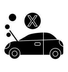 Car broke icon black sign on vector