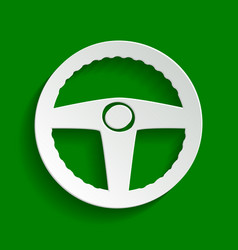 Car driver sign paper whitish icon with vector