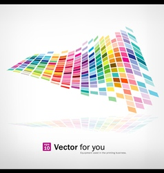 colorful background mosaic pattern vector image vector image