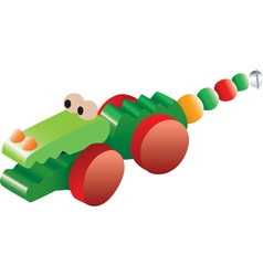 Crocodile toy vector image vector image