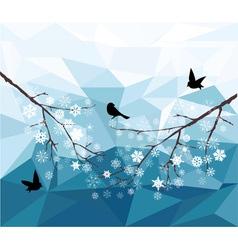 Diamond snow bird vector
