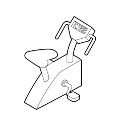 Exercise bike icon outline style vector