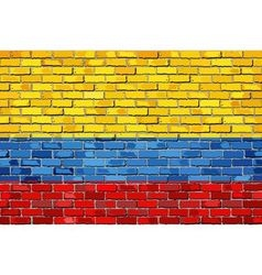 Flag of Colombia on a brick wall vector image vector image