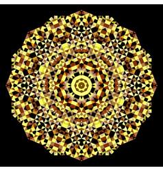 Geometric pattern mosaic banner of geometric shape vector