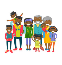 Happy extended african-american family vector