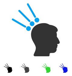 Head test connectors flat icon vector