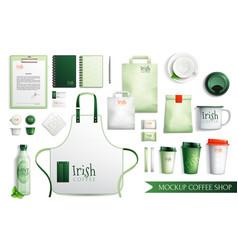 Irish coffee merch collection vector