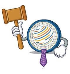 Judge factom coin mascot cartoon vector