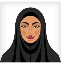 Muslim woman in chador vector image vector image