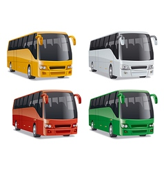 New modern comfortable city buses vector