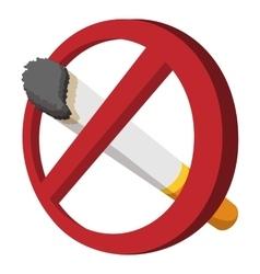 No smoking sign cartoon icon vector image