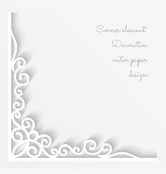 Paper corner ornament vector