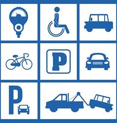 Park zone design vector image