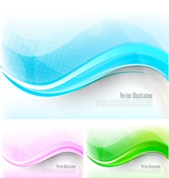 Set of bright tech backround vector image vector image