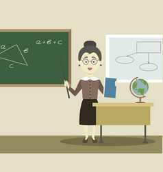 smiling school teacher vector image