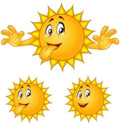 sun tongue vector image vector image