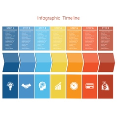 Timeline 7 options vector image vector image