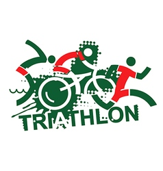 Triathlon race vector image