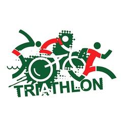 Triathlon race vector